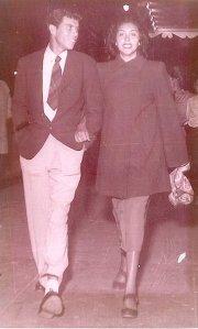 My parents taking a walk in Phoenix, Arizona (Garcia Family photo ca. late 1950)