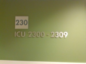 ICU Waiting Room at Kaiser Santa Clara Medical Center