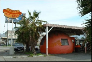 The original Mark's Hot Dogs stand on Alum Rock Avenue in east San Jose (photo by www.roadfood.com)