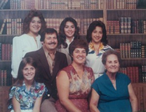 The Peralta Family with Nana Encarnación, ca. 1980 (Peralta Family Photo)