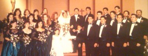 The García and Peralta families came together to celebrate our wedding day on November 17, 1990. (Sandra and Eddie  García Family Photo)