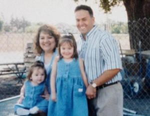 With Sandra, Marisa, & Erica taking photos for my 1998 school board campaign (Sandra and Eddie García Family photo)