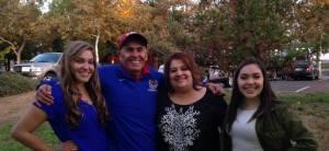 Celebrating my 50th birthday with Sandra, Marisa, and Erica (Sandra & Eddie García family photo)
