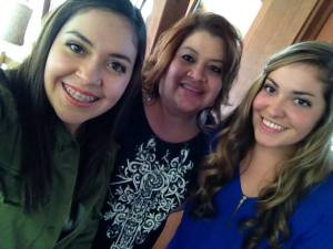 Erica, Sandra, and Marisa (Sandra and Eddie Garcia Family photo) click on image to read all excerpts