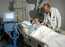 Patient on ventilator -image does not reflect actual events - Image by www.heart-valve-surgery.com (click on image to read all excerpts)